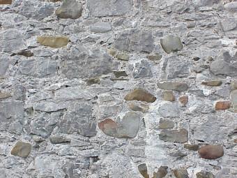 Wall with mortor