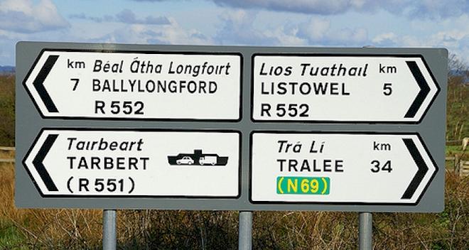 names irish place ireland placenames