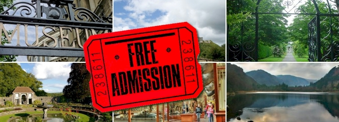 Free admission in Ireland