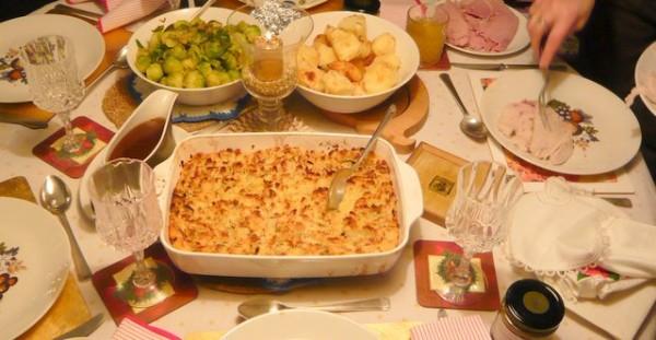 Traditional Irish Christmas Dinner.A Typical Irish Christmas