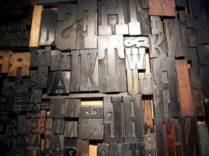 Old metal letters, by Kevin Lawver