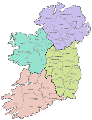 Map Of Ireland Counties In Irish.Understanding Irish Land Divisions