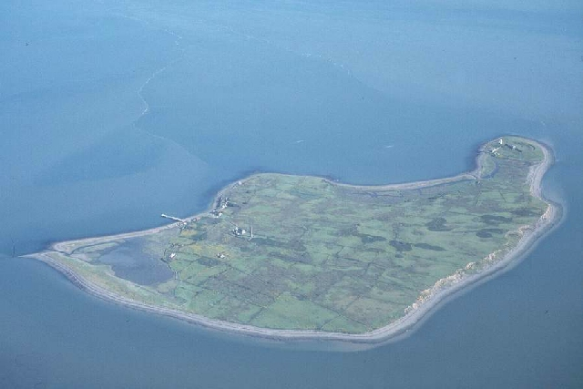 Scattery Island from the air