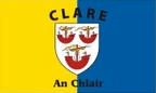 Clare: Flag, colours and crest
