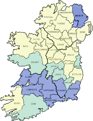 Map Of Ireland Counties In Irish.The Gaa And The All Ireland Championship