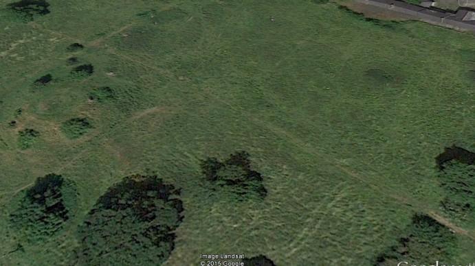 Fort hidden in fields