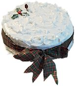 Iced Christmas Cake With Paper Wrap