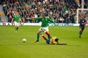 Ireland 1: Colmbia 0, May 2008 by law_keven