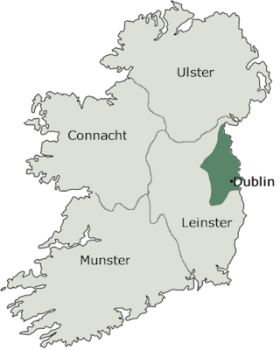 Map Of Ireland Leinster.Strongbow And The Normans 1170 1536