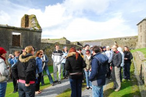 Tour group at Charles Fort