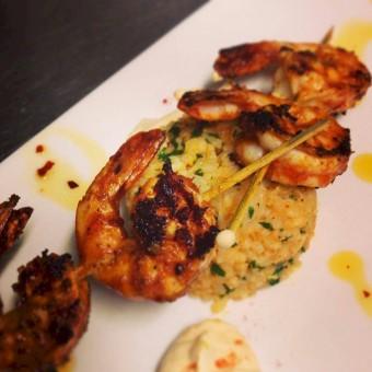 Peri-peri Shrimp at Cafe Gusto